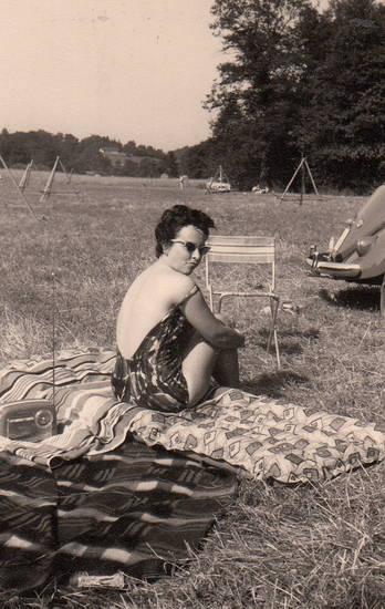 auto, badeanzug, KFZ, Kofferradio, Luftmatratze, picknick, PKW, Radio, Sonne, sonnen, sonnenbrille