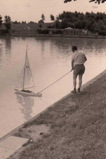 aachener weiher, boot, modellboot, Segelboot