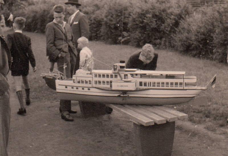 aachener weiher, boot, bootschiff, fähre, modell, modellboot, schiff