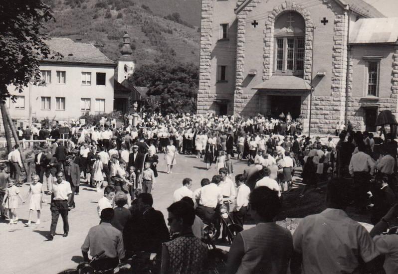 kirche, Prozession, Zuschauer