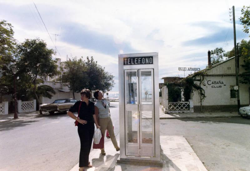 andalusien, aufschrift, cabana club, costa del sol, marbella, reise, Schild, schrift, Spanien, südspanien, telefon, telefono, Telefonzelle, urlaub, Urlaubsreise