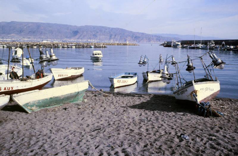 anlegen, boot, Portugal, Spanien