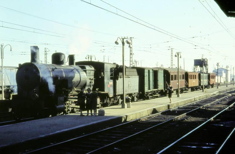 bahnsteig, Dampflok, Dampflokomotive, Laterne, Lok, lokomotive, personenwagen, Schienen, Tasche, zug
