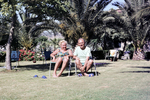 Sitzen in der Sonne