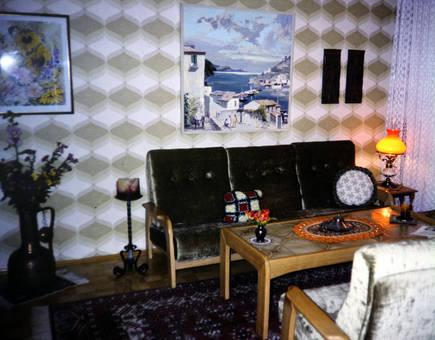Dunkles Wohnzimmer