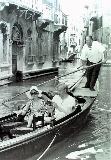 Gondel, Gondelfahrt, Strandszenen, urlaub, Venedig