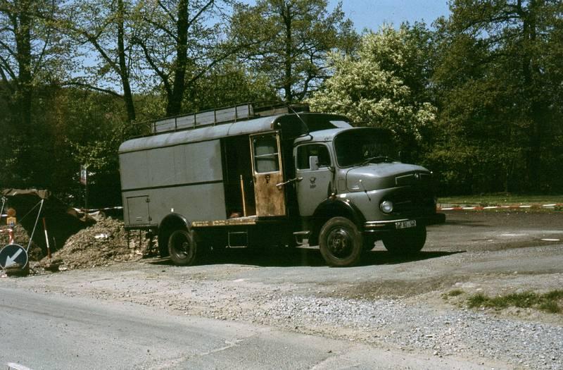 Fernkabelmontage, Fernmeldeamt, LKW, Mercedes-Benz, messwagen, Post