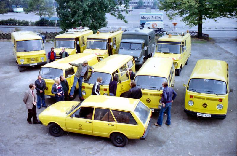 auto, DBP, deutsche bundespost, Fernkabelmontage, Fernmeldeamt, Fernmeldedienst, Fuhrpark, Hagen, KFZ, mercedes, Opel-Blitz, PKW, Transporter, Unimog, volkswagen, vw bus, VW-Passat