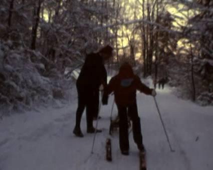 Winterlicher Waldspaziergang