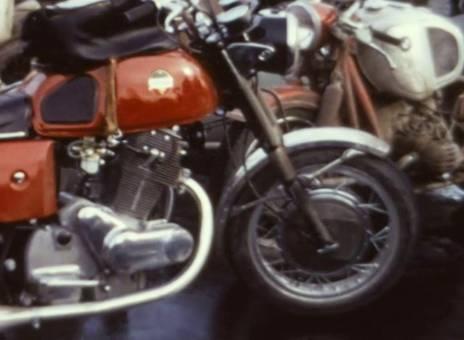 Lagerfeuer der Motorradfahrer