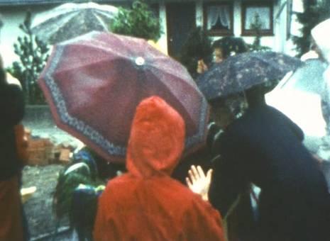 Richtfest auch bei Regen