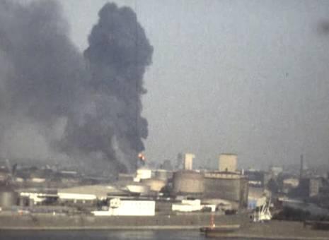 Brand am Duisburger Hafen