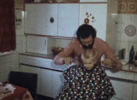 Papa, der Friseur