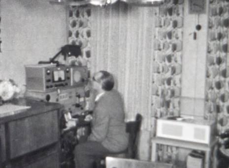 Funkstation im Wohnzimmer