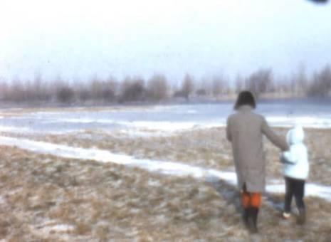 Spaziergang auf Eis