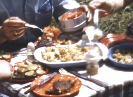 Festmahl beim Campen