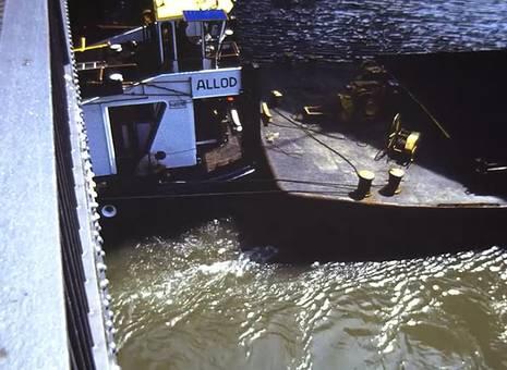 Frachter in Essen