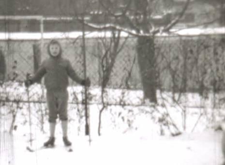 Wintersport im Garten