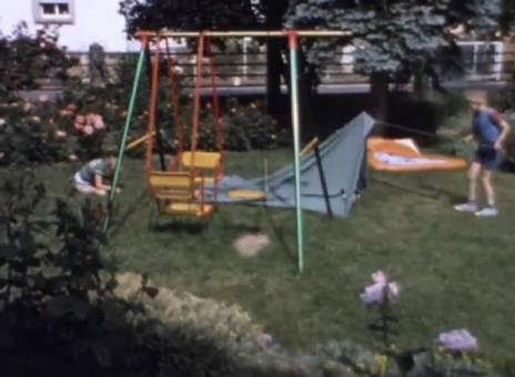 Zeltplatz im Garten