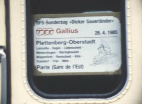 BFS-Sonderzug nach Paris