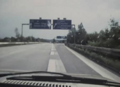 Auf der Autobahn nach Aachen