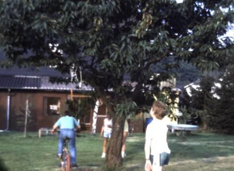 BMX im Garten