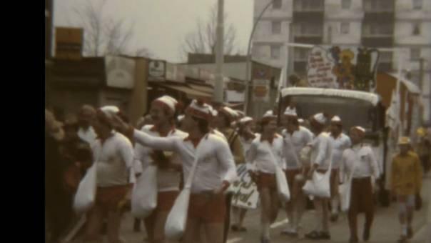 Karnevalszug in Poll 1980