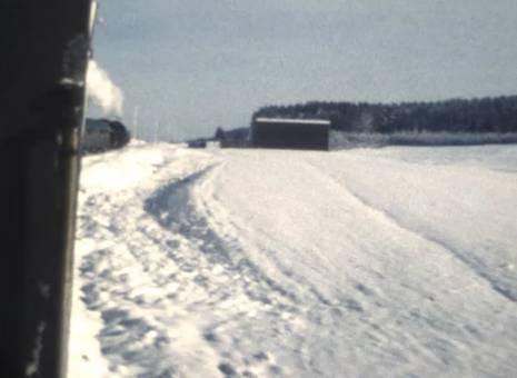 Zugfahrt im Schnee