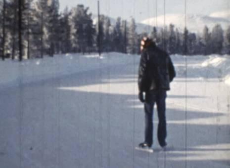 Vereiste Schneestrecke