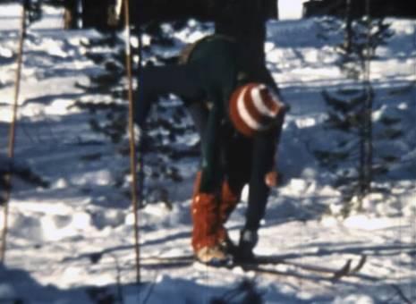 Skilaufen im tiefsten Winter