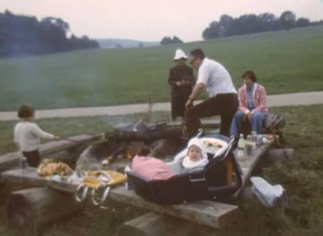 Feuerstelle an der Hütte