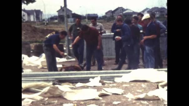 Bau eines Festzelts