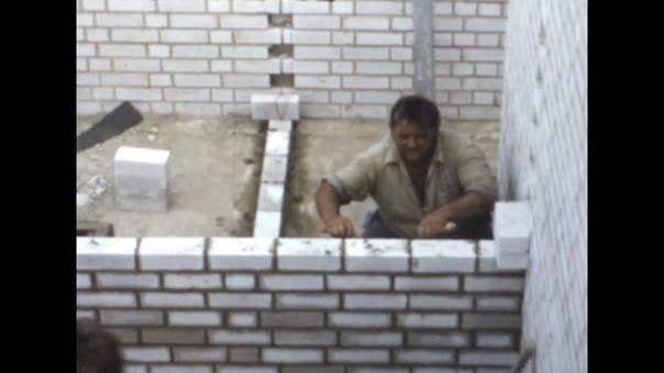 Bau der Friedhofshalle