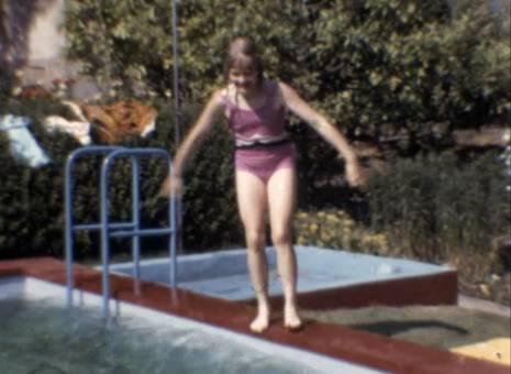 Abduschen und schwimmen