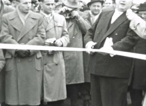 Bau und Eröffnung Salierbrücke