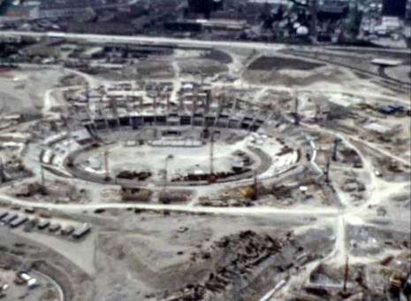 Bau des Olympiageländes