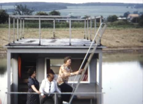Hausboot auf der Weser