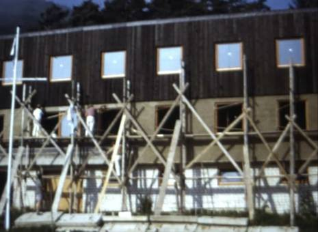 Bau eines Clubhauses