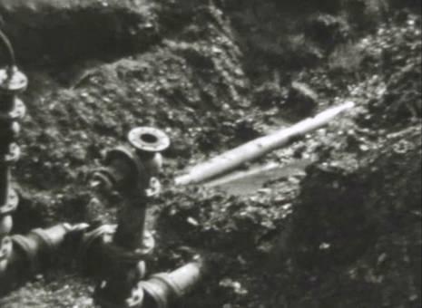 Bau der neuen Wasserversorgung