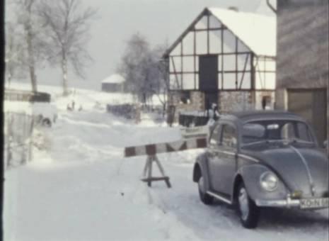 Schnee und Schneegestöber
